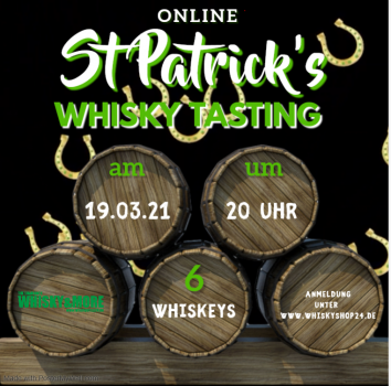 St. Patrick's Whisky-Tasting at home am 19.03.2021