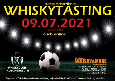 europameisterliches Whiskytasting am 09.07.2021