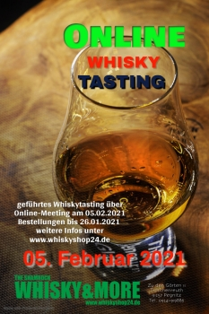 Whisky-Tasting at home am 05.02.2021